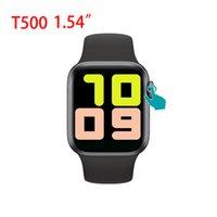 T500 1,54 Zoll-Bildschirm Smartwatch Uhren Sport Outdoor Herzfrequenzmonitor Fitness Tracker Smart Armbanduhr Bluetooth Call Plus mit Box für iPhone und Android