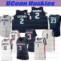 Personalizzato Uconn Huskies College Basket 1 Christian Vital 2 Gigi 10 Brendan Adams 12 Tyler Polley 15 Walker 34 Allen Maglie