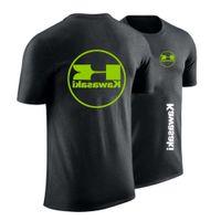 T-shirt 2021 Summer Kawasaki Moto Hommes Ajustez T-shirt Effen Couleur Unisexe Hip Hop Mode High Street Tops