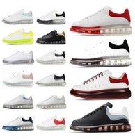 alexander mcqueen mcqueens Blanc Blanc Chaussures en daim classiques en cuir de velours en cuir de daim hommes Femmes plate-forme  surdimensionnées chaussures