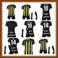 21 22 Echte Zaragoza Fußball Jerseys Aley Jersey 2021 2022 Zapater Pombvazquez Ros Football Hemd Camisa de Futebol Erwachsene Kinderkit