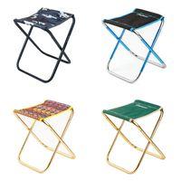 Chaise pliante Tabouret extérieurs Alliage d'aluminium Pêche Portable Randonnée Randonnée Hest Ultralight Barbecue Accessoires