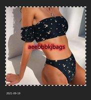 Bikinis Set ImanFive Imprimir Bikini 2021 Chegada Padded Strapless Tanga Alta Cintura Swimsuit Feminino Biquini Sexy Swimwear Mulheres1