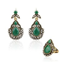 Earrings & Necklace 2021 Fashion Turkey Jewelry Sets Retro Ethnic And Ring For Women Christmas Year Love Gift