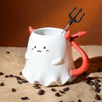 2021 Starbucks Tumbler Halloween Little music devil mugs coffee cup with stir sticks