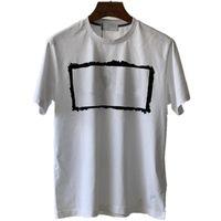CPTOpstoney 2021 T-shirt dos homens de algodão de verão impresso carta de correção de correção pescoço de manga curta para os amantes casuais bottomome