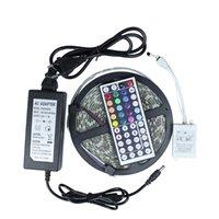 Lampeggiante a LED a LED impermeabile 5M DC24V 300 LED Strisce a barre flessibili + IR Telecomando + Adattatore di alimentazione DC 24V 2A