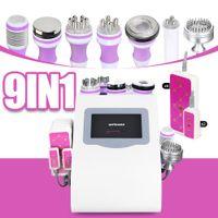 Hot Seller 9in1 40K Ultrasound cavitation laserlipo fat reduction slimming body massager laser lipo lose weight machine beauty salon equipment
