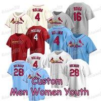 Personalizado Nolan Arenado 2021 St. Louis Baseball Jersey Yadier Molina Paul Goldschmidt Matt Carpenter Paul Dejong Carlos Martinez Marcell Ozuna Wong Fowler Yairo Yairo Munoz