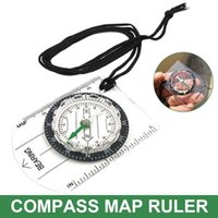 Outdoor Gadgets Mini Compass Map Plastic With Straight Rulers Mm inch Lanyard Convenient Carry Mountaineering Hiking Camping Accessories