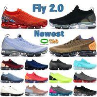 Yeni Fly 2.0 Erkekler Koşu Ayakkabıları Siyah Metalik Gümüş Topuk Grafik Ekibi Turuncu Alunminum Gym Mavi Erkek Kadın Sneakers Eğitmenler