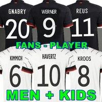 플레이어 버전 2020 2021 독일 축구 유니폼 TAH Gundogan Reus Gnabry Werner Kroos 20 21 Kroos Maillot de Foot Football Sane Goretzka Can Havertz Men + Kids