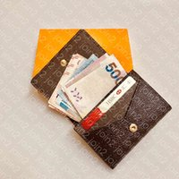 enveloppe carte de visite m63801 مصمم أزياء الرجال عملة التجارية بطاقة الائتمان تذكرة حامل مفتاح حالة الفاخرة الجيب المنظم محفظة N63338