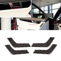 Car Styling Door Handle Decoration Stickers Fit For Mercedes Benz C Class W204 C180 C200 C260 Auto Interior Accessory