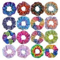 Mädchen Headwear Frauen Laser Haarbänder Dot Glänzende Farbverlauf Farbe Elastische Haarbänder Ring Pferdeschwanz Halter Seil Krawatte Haarsprudeln Neue A101501