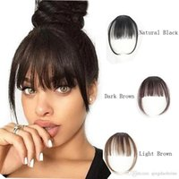 100% Real Human Hair Clip In Bangs Clip On Bangs Extension Hand Tied Hair Extension For Women