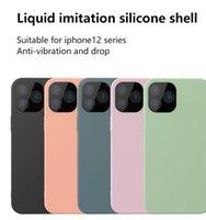 İmitasyon Sıvı Silikon Yumuşak TPU Cep Telefonu Kılıfları Mobil Tam Kaplı Kabukları Anti-Titreşim ve Damla iPhone 12 Mini Pro Max