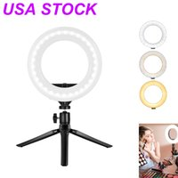 10Inch USA STOCK LED ring filling light is powered by USB Skin care Taking pictures Live Tripod Stand 3 Lights Modes Color Temperature 3000K to 6000K
