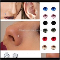 Rings & Studs Body Jewelry Jewelrycrystal Magnetic Earring Fake Magnet Ear Lip Non Piercing Tragus Nose Stud 8 Pairs  Pack Drop Delivery 2021