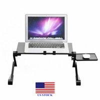 Faltbare Laptop Schreibtisch Tischständer Halter Einstellbare Kühlkörper Dual-Fan Maus BOAD C0044 US-Lager