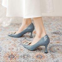 2021Ornamental Filigree Leaves Spiralling Naturally Up Heel (7cm) Bule Women Wedding Shoes Chic Satin Stiletto Heels Eden Pumps Bridal