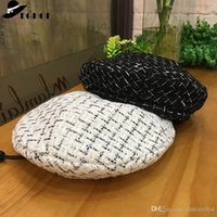 Hot Trend French Beret for Women 2019 New Luxe Soft Beret Adjustable Flat Plaid Beret Hat Tartan Check Beanies Cap Boina