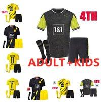En Haaland Reus Borussia 20 21 Dortmund Futbol Forması 2020 2021 Futbol Gömlek Bellingham Sancho Hummels Brandt Erkekler Kids Kiti Üniformaları