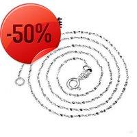 New Hot Unisex Flat Snake Bone Chain Necklace 45cm 50cm Blade Choker For Women Men 925 Silver Jewelry SAN3