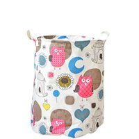 Hanging Baskets Pumping Owls Cotton Linen Closing The Dirty Clothes Bucket Cleaning Bag For Homeuse Case Kep Bathroom