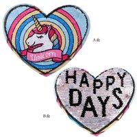 Büyük Boy Kumaş Iki Taraflar Patchwork Aplikler Giyim Çanta Sırt Çantası Için Tek Boynuzlu Anonik Sticker Semek Seepting Nakış Karikatür Kalp Mektuplar Boncuk Yamalar