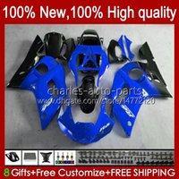 Carroçaria para Yamaha YZF 600 CC YZF-600 YZF-R6 1998 1999 2000 2001 2002 Bodys 1No.111 YZF600 600cc YZF R6 R6 98-02 YZFR6 98 99 00 01 02 OEM Full Biring Kit Lustroso Azul