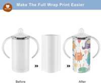 12OZ Sublimation White Blank Straight Sippy Cup Insulated Stainless Steel Tumblers with Screw-ON LIDS des