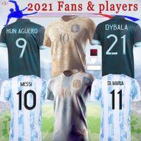 20 21 22 아르헨티나 팬 선수 축구 유니폼 메시 디볼라 마라 도나 기념 판 축구 유니폼 Aguero Icardi Mascherano Futboll Shirt S-4XL