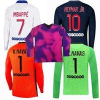 Mailoots de Football 20 21 с длинным рукавом K.navas Soccer Jersey 2021 MBAPPE ICARDI Рубашка Maillot Phoot Kimpembe di Maria Kean Marquinhos
