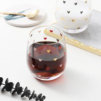 Wine Glasses Cute Glass Cup Love Heart Egg Shape For Drinking Teacup Of Coffee Milk Latte Espresso Cups Or Tea Tumbler