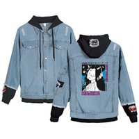 Nieuwe the prometed neverland chaqueta denim manga japonés unisex tops casual primavera otoño mujeres / hombres ropa exterior abrigos Harajuku Jack de la mujer