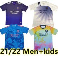 21 22 MLS Orlando Şehir Futbol Forması Hayranları Sürüm Nani Pato Dike Mueller Özel Sürüm Eğitim Giyim Erkekler + Çocuklar Futbol Gömlek