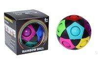 Rainbow Spinning top Magic Ball Fidget Gyro Cubes Toys Puzzle Balls Stress Relief Creative Football for Kids Adult Brain Teasers Games Learning Educational Toy Gift