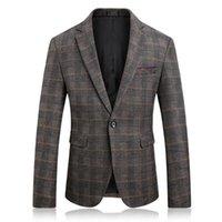 Men's Suits & Blazers 2021 Autumn Style Men Boutique High Quality Business Casual Slim Plaid Mens Suit Jacket Large Size 4XL 5XL