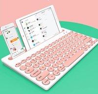 Tastiera wireless Bluetooth multi-dispositivo Mini 76 tasti per tastiera per computer tablet tastiera portatile portatile rosa ottico nero con scatola al minuto