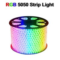 110V 220V LED Strip 5050 50m 100m IP65 Waterproof RGB Dual Color Rope Lighting For Outdoor With RF Remote Controller