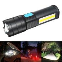 Resalte L2 T6 LED Lámpara de antorcha LED 5V COB USB Carga multifunción Multifunción Luz de trabajo impermeable para acampar Linternas antorchas