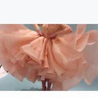 2021 myriam tarifs célébrités robes de célébrités avec manches longues robes de bal perlées dentelle dentelle robe de soirée haut col haut bas arabia cocktail robe de soirée