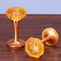 Lanterne Chandelier Titulaire de Crystal Verre Décor Laure Lotus Fleur Bougies Bougeoirs Retro minimaliste Porte Bougie Lampe à huile xx50ch