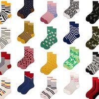 1 pair Men Women Socks Cotton Crew Lovers Socks Funny Animal Cartoon Casual Colorful Dots in tube Sock A-G