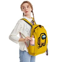 Game Am Ong Us 3D Printed Candy Color Backpacks Streetwear Hip Hop Key Chain Accessories Boys Girls Teenager Backpack Bags School