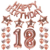 Theme Balloon Rose Gold 0-9 Number Birthday Wedding Anniversary Party DIY Digital Star Decoration