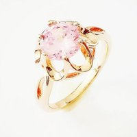Cluster Rings Woman Ring 585 Rose Gold Fashion Jewelry Trendy Pink Natural Stone Wedding Color Bridal Women