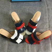 Роскошные женские сандалии Marmont Sandals высокие каблуки на высоком каблуке платформы слайд замшевой кожей с бахрома
