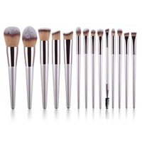 Makeup Brushes 10 Champagne 14 Eye Shadow Beauty Tools Foundation Blush